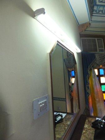 Sajjan Niwas: seul éclairage de la chambre