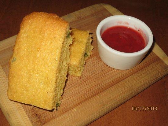 50 West: jalapeno studded corn bread