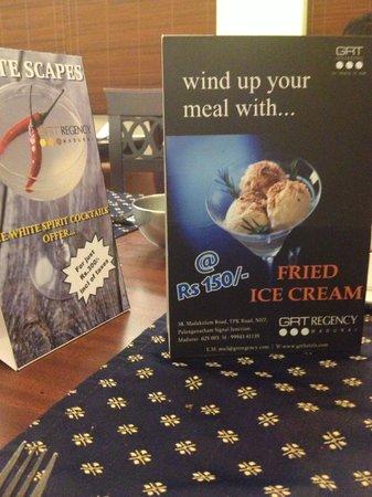 Regency Madurai by GRT Hotels: Fried Icecream