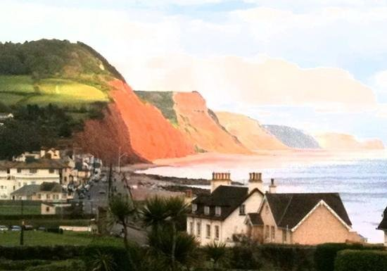 Sidmouth Harbour Hotel - The Westcliff: The view of the sea and down towards Sidmouth. View from room 3.