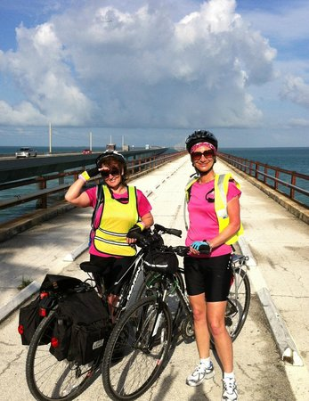 Key Largo Bicycle and Adventure Tours: the old seven mile bridge