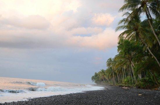 Spa Village Resort Tembok Bali: Black sand beach