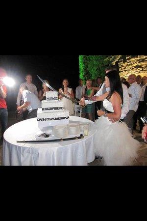 Chateau Copsa: Bryllupskage på Copsa