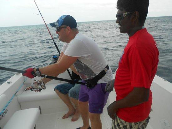 Maakeyolhu Fishing Charters: Action shot