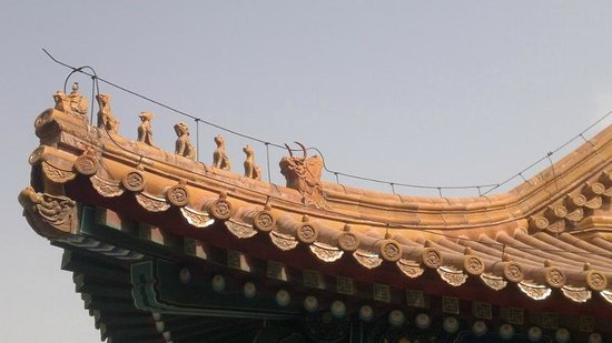 Tur Pribadi Harian - ke Beijing Tur Guide Catherine: Close up of the roof animals in the Forbidden City