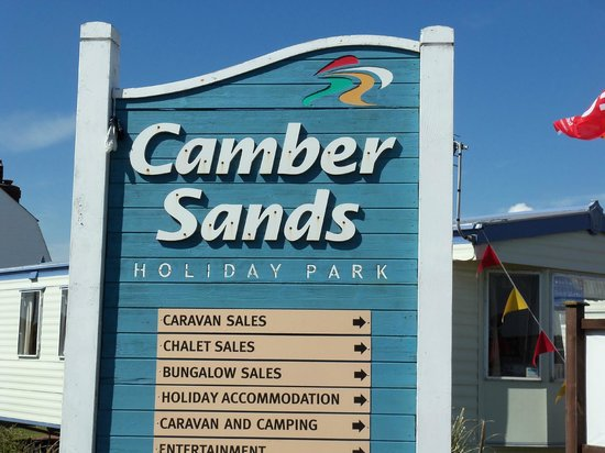 Entrance Sign Picture Of Camber Sands Holiday Park