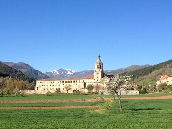 Hosteria del Monasterio de San Millan : view of monastery in morning light- gorgeous!