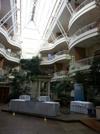 Sefton Hotel: And looking up to the top floors from ground level in the atrium