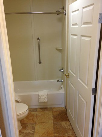 Homewood Suites Dallas - DFW Airport N - Grapevine: Shower and toilet