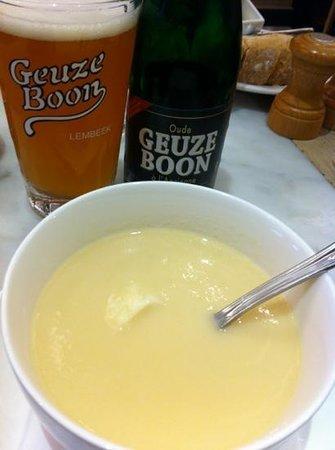 Cesar: soupe d'asperge et bière gueuze