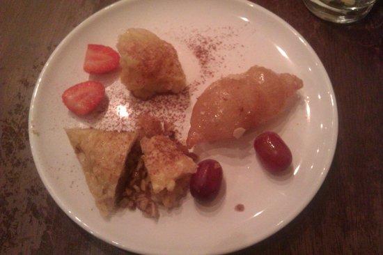 Nikos Apostolakis: Our desserts - absolutely delicious.