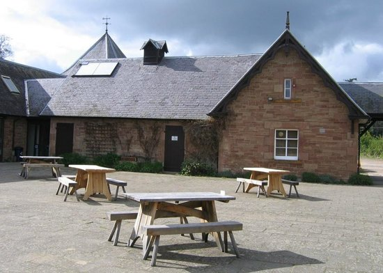 Harestanes Countryside Visitor Centre: Harestanes Visitor Centre courtyard.