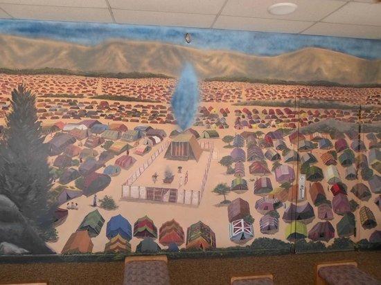 Biblical Tabernacle Reproduction : Mural of Tabernacle and Israelite encampment
