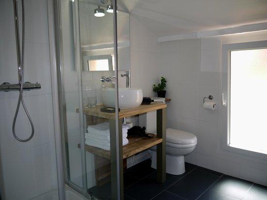 L'Hostalet: salle d'eau grande chambre double