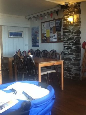 Torcross Boat House: inside the restaurant