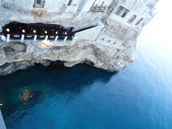 Hotel Ristorante Grotta Palazzese Reviews Polignano A Mare - Restaurant built inside a cave in italy offers beautiful views as you dine