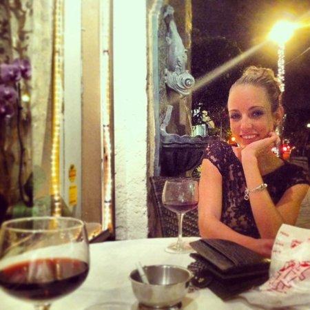 Rustico Italiano Restaurant : My lovely wife loving Rustico Italiano