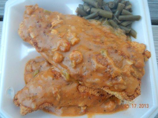 The Lost Bayou Cafe: Catfish with Crawfish Etouffee
