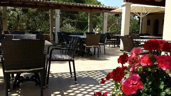 Restaurante Cala Ferrera Bar Maria: la terraza