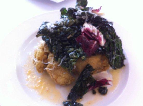 Dijon: fried oyster salad