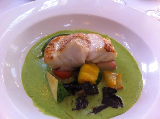 Dijon: grouper and squash