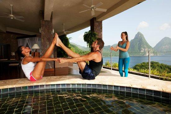 Jade Mountain Resort: Yoga at Jade Mountain St.Lucia