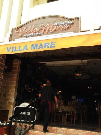 Villa Mare: Front of restaurant