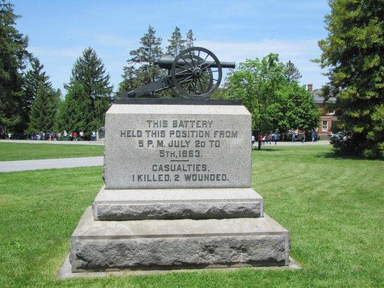 Gettysburg, Pennsylvanie : Batterie