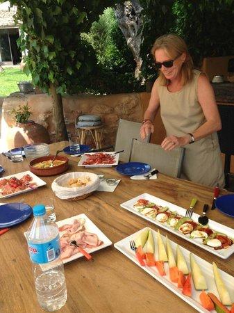 Can Sastre: Unser Frühstück als wir ankamen