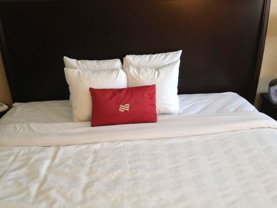 Crowne Plaza Providence-Warwick Airport: Uncomfortable Pillows