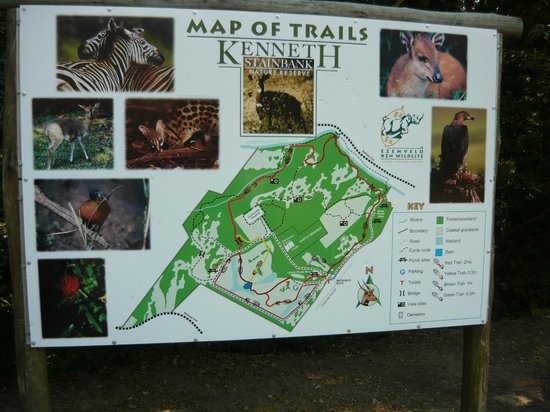 Kenneth Stainbank Nature Reserve: Plattegrond