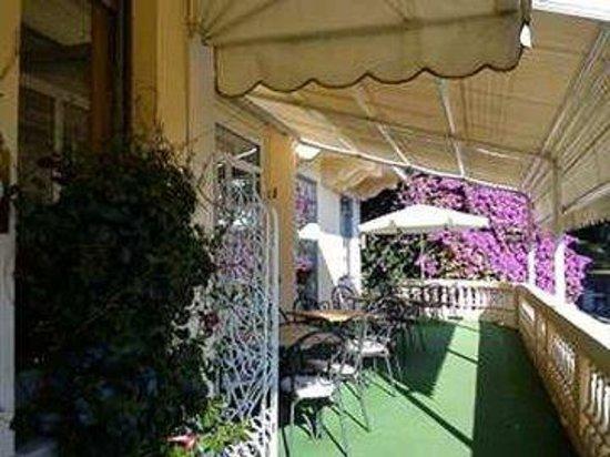 Hotel Canali: Terraceseating Purpleflowers