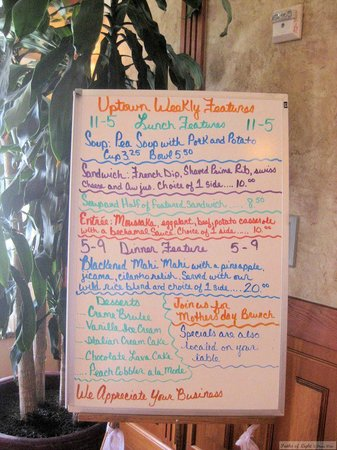 Uptown Blanco Restaurant: Specials of the week