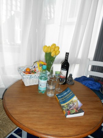 Tulip of Amsterdam B&B: Wine and snacks