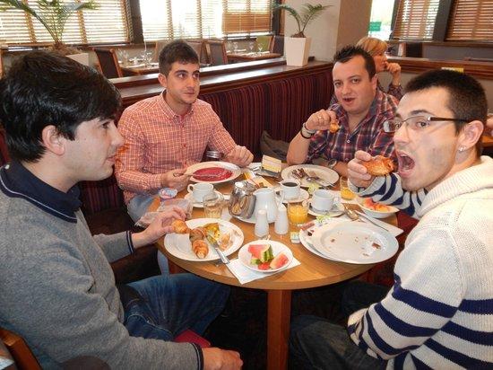 Holiday Inn Rotherham-Sheffield M1, Jct. 33: At the breakfast.