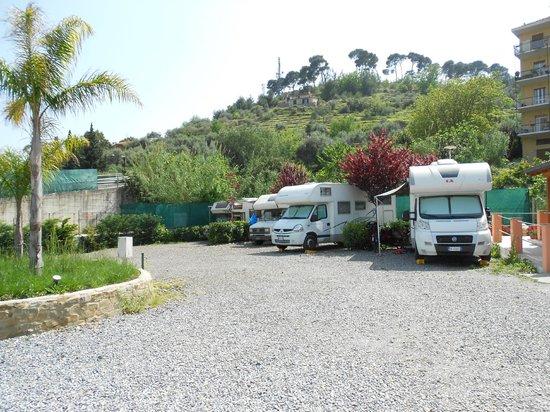 San Lorenzo al Mare, Italy: Area sosta camper