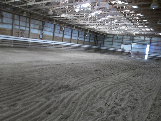 Greenville, VA: indoor area for the horses