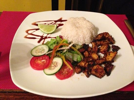 Restaurant Baru: grilled octopus with rice! very good