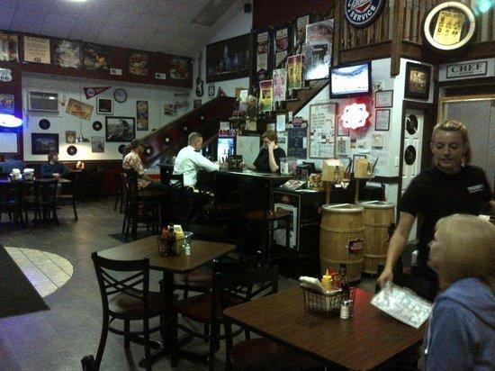Rick's Cheese Steak Shop: Interior at Rick's.