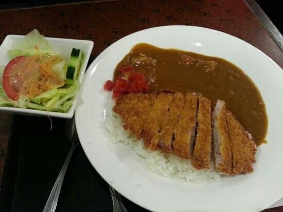 Mifune : Curry pork chop on rice