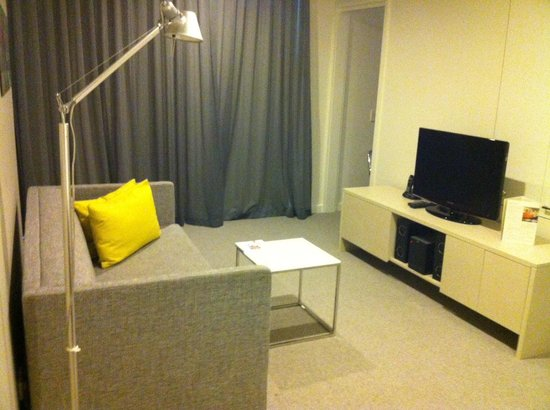 Citadines on Bourke Melbourne: One Bedroom Deluxe Lounge Room, Feb 2013
