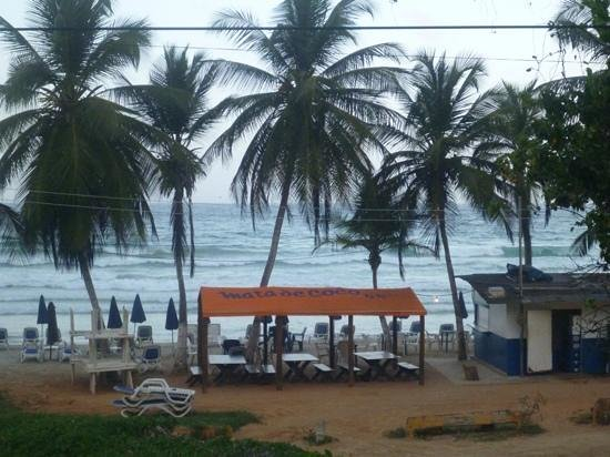 Guacuco, Venezuela: View from the road of restaurant and beach
