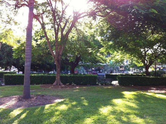 Centenary Place : walking through the park