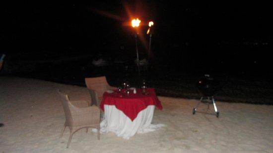 Arii Vahine Restaurant : Our table