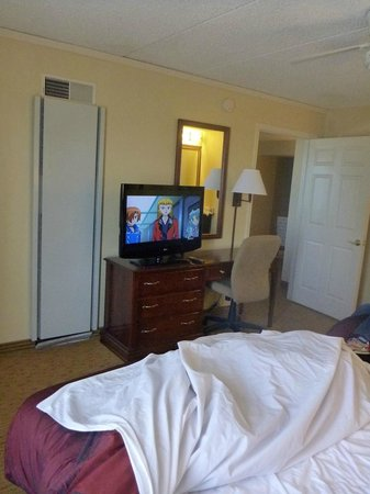 Homewood Suites by Hilton Ft. Worth-North at Fossil Creek: bedroom and tv