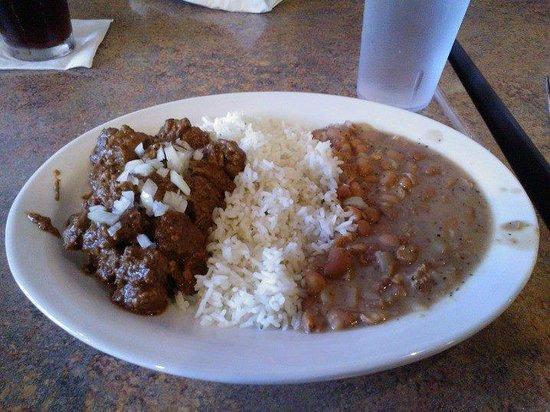 Anaheim Chili : Texas Chili Plate...Yum!