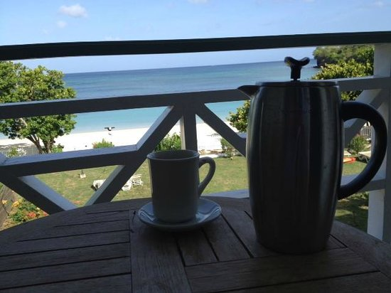 Kalinago Beach Resort: Coffee on the veranda... what a view