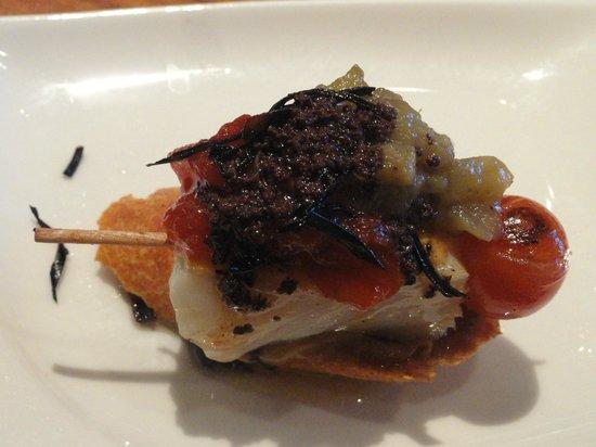 Vinitus Barcelona: Montadito de camarão