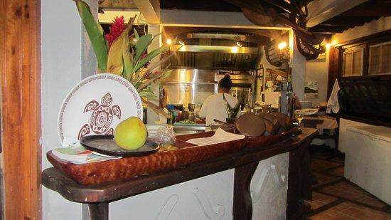 Te Honu Iti: Open kitchen