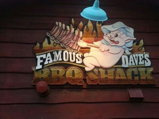 "Famous Dave's: The outside sign. I wish it said ""original."""